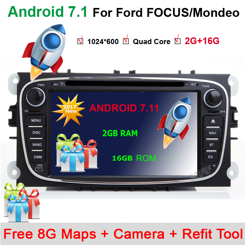 DAB Android 7.1.1 CD DVD Radio Player Navi GPS for FORD FOCUS Mondeo GALAXY C Max S MAX Kuga