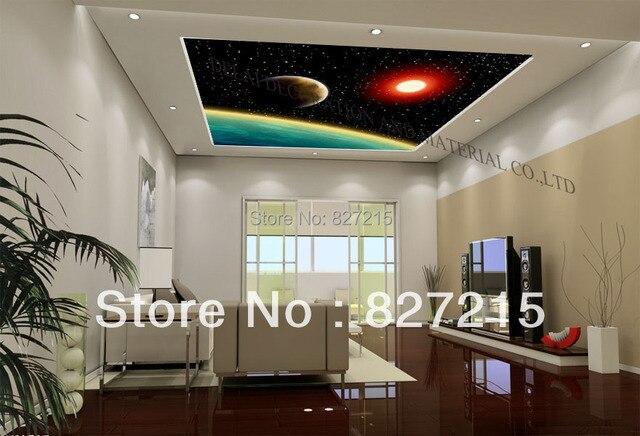 Wohnzimmer Decke Dekoration ~ U sonne und erde druck stretchfolien für wohnzimmer