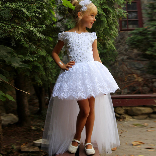 White Lace Pageant Gown