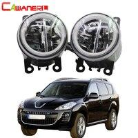 Cawanerl Car Styling 4000LM LED Bulb Fog Light + Angel Eye Daytime Running Light DRL H11 12V For Peugeot 4007 GP_ 2007 2013