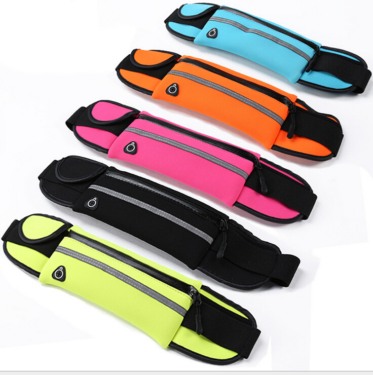 10PCS Sports Waist Bag Running Bicycling Use Multifunction Bag For Cellphone Cards Earphone Storage Waterproof Outdoor