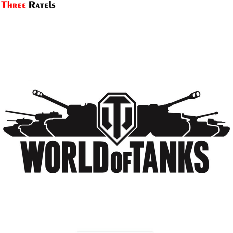 Three Ratels TZ-1253 15*40.6cm 1-4 Pieces World Of Tanks Car Sticker Funny Car Stickers Decals