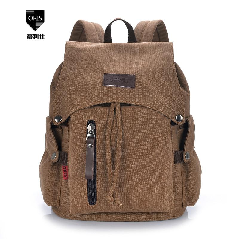 ФОТО Hot selling High Quality Men Women Backpack Zipper Solid Travel Bags Multifunctional Canvas Bag school bags CW2013