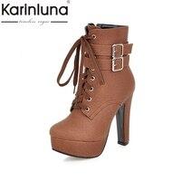 KARINLUNA 뜨거운 판매 큰 크기 30-50 패션 하이힐 발목