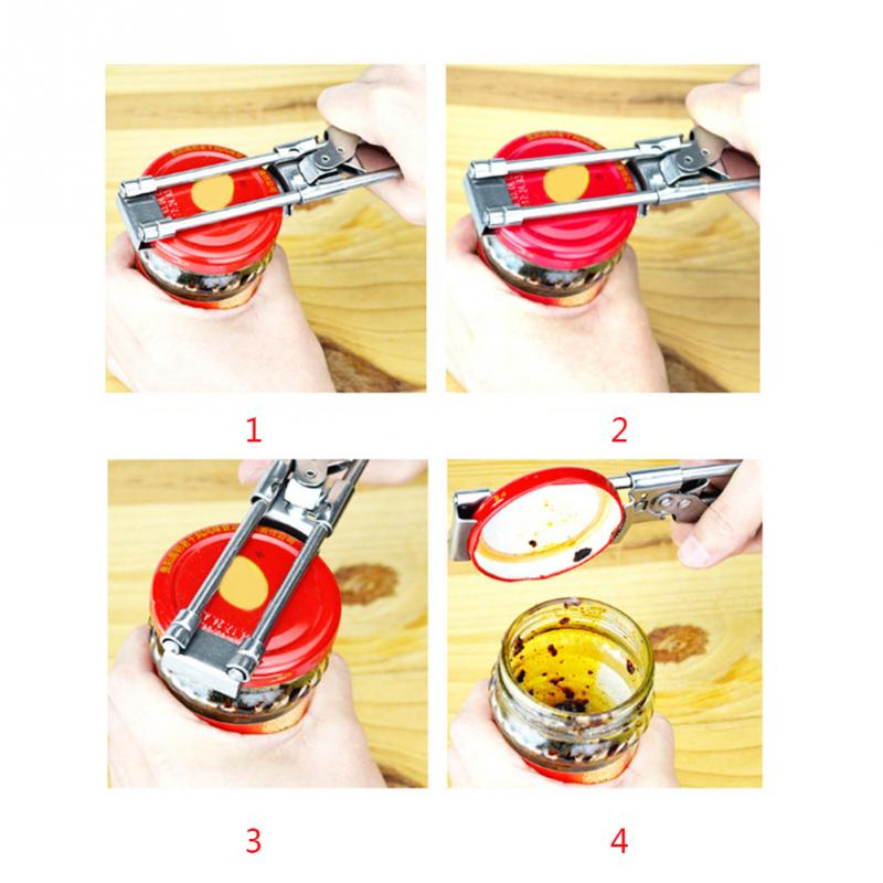 adjustable manual stainless steel jar lid opener and gripper can opener kitchen accessories