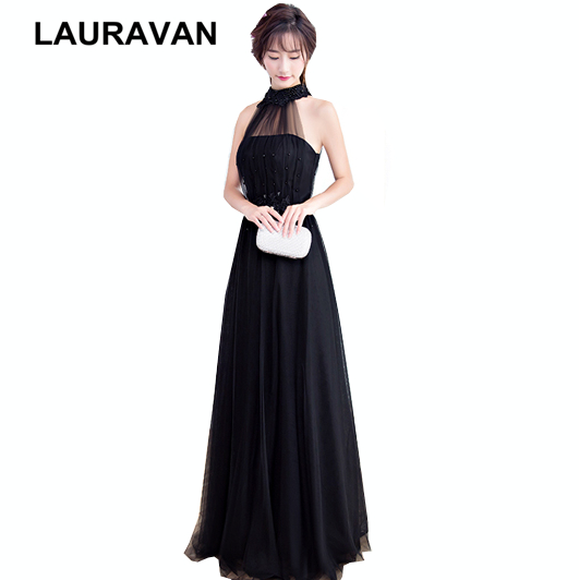 halter neck womens special occasions formal size 6 balck tulle   bridesmaid     dress   brides maids   dresses   2019 ball gown under 100