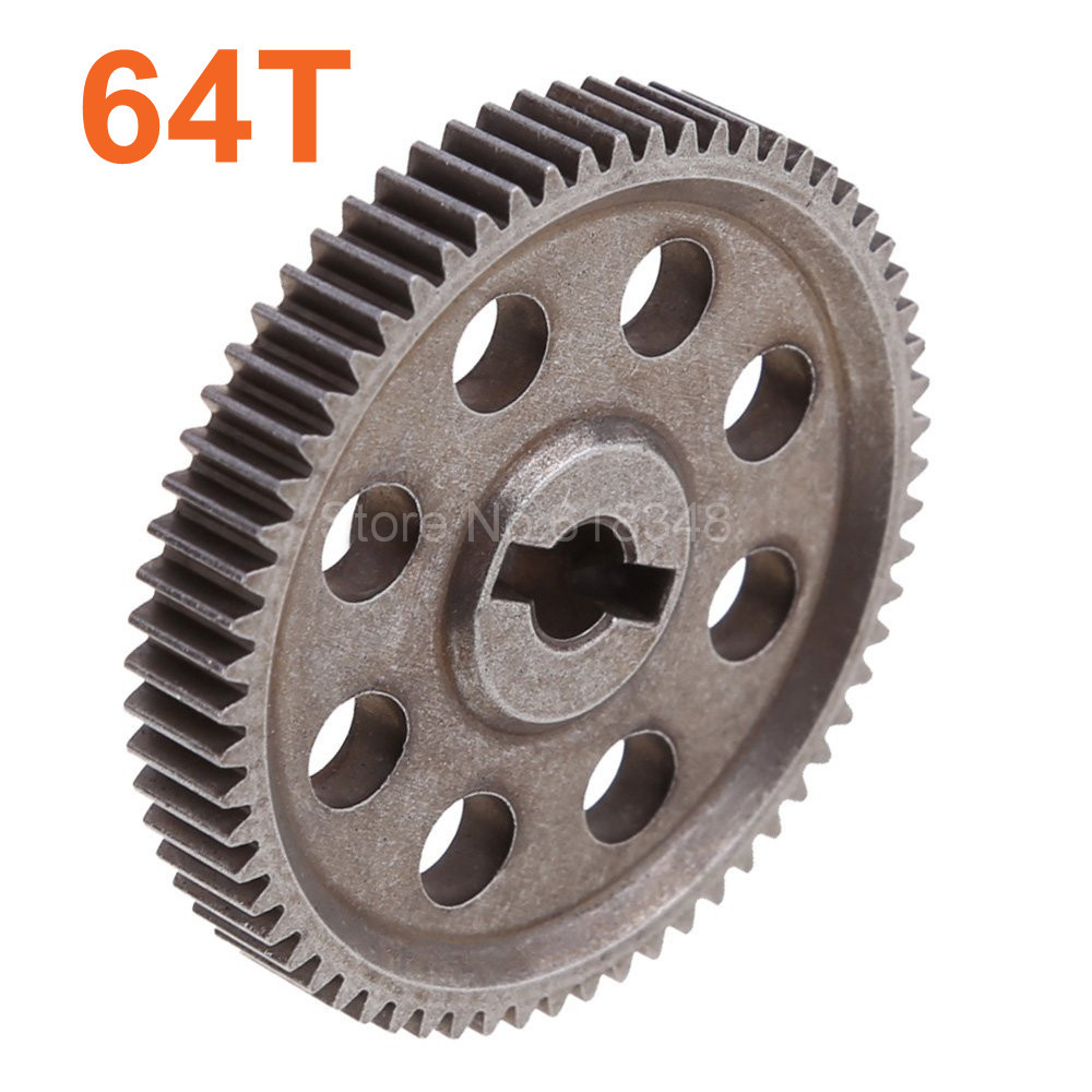 HSP 11184 Steel Metal Spur Diff Main Gear 64T 1/10 RC Model Car Spare Parts For Electric Monster Truck Buggy Flying Fish Drift 10pcs lot 06232 steel metal 47t spur gear upgrade parts fit 2 speed rc car for redcat tornado s30 bb tsunami nitro vortex ss