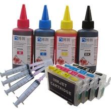 Refill Inkt Kit T1281 Navulbare Inkt Cartridge Voor Epson Stylus SX430W SX435W SX438W SX440W SX445W Kantoor BX305F BX305FW Printer