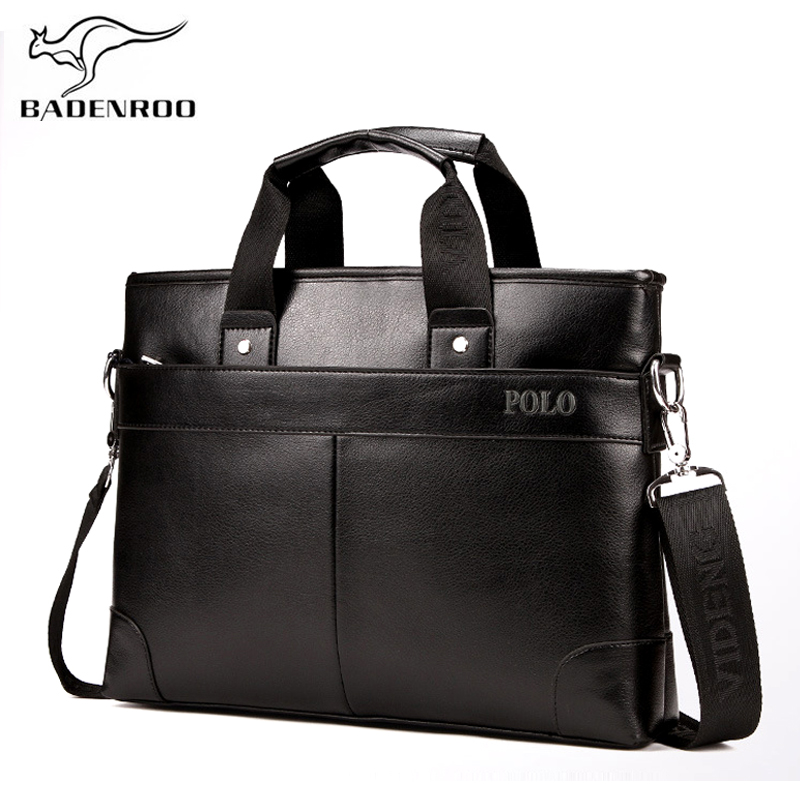 Badenroo Genuine Leather Male bag Handbags Business Men bags Laptop Tote Briefcases Crossbody bags Men's Shoulder Messenger Bags lacus jerry genuine cowhide leather men bag crossbody bags men s travel shoulder messenger bag tote laptop briefcases handbags