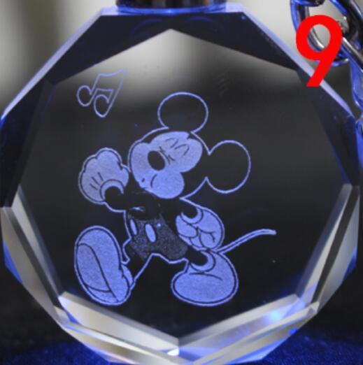 Брелок светодиодный кристалл Микки Маус в ассортименте 5