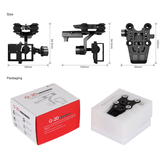 Walkera G-2D Brushless Camera Gimbal for Drone