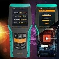 4 в 1 PM2.5 PM10 TVOC HCHO формальдегида детектор воздуха PM 2,5 монитор 2,4 дюймов ЖК дисплей газоанализатор защиты дома воздуха монитор