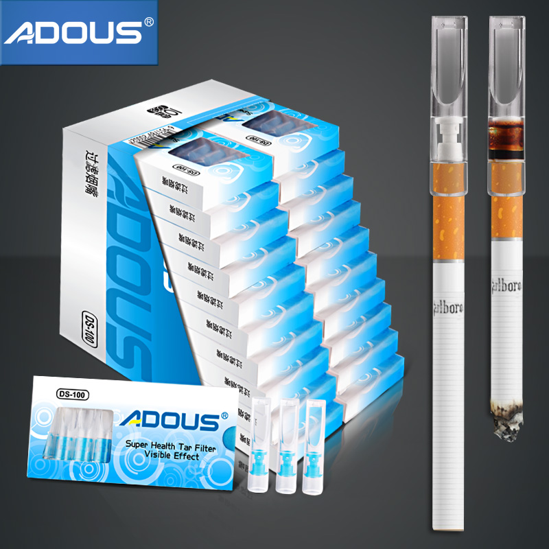 100pcs Disposable Cigarette Tar Filter Tips To Reduce The