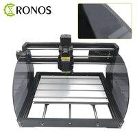 Cnc 3018 max + off-line gravador a laser madeira diy máquina de roteador cnc, fresadora pcb, roteador de madeira, controle grbl, desejou no metal