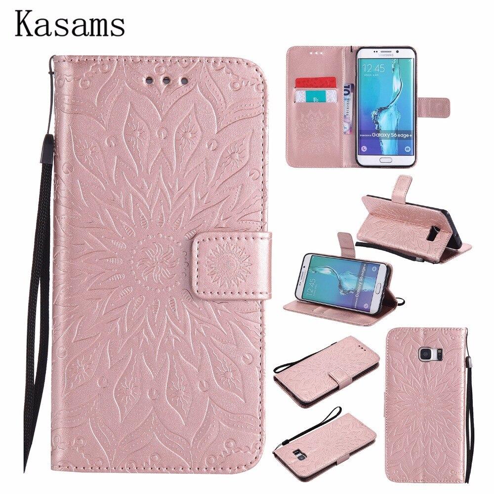 3d Zonnebloem Fundas Voor Samsung S7 G930 S7 Edge G935 Telefoon Case Voor Samsung S6 Rand Plus Rand + Flip Boek Cover Pu Leather Shell