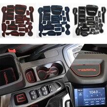 21 Pcs Per Set Car Styling Gate Slot Pad Interior Door Groove Mat Anti-Slip Cushion For Hyundai Tucson 3rd 2015 2016 LHD