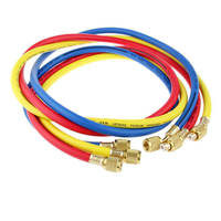 3pcs 150mm Length Charging Hoses R134a R22 Manifold Gauge Set For Air Conditioner Refrigeration