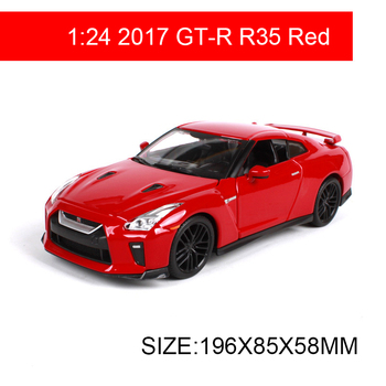 Maisto Bburago 1:24 Nissan 2017 GT-R GTR R35 Sports Car Alloy Metal Toys gift modified car simulation model For Collection