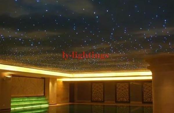 DIY stars fiber optic lights RGB Led light source+0.75mmx2.5mx250pcs end-glow optical fibers for home decoration night light the glow of fallen stars