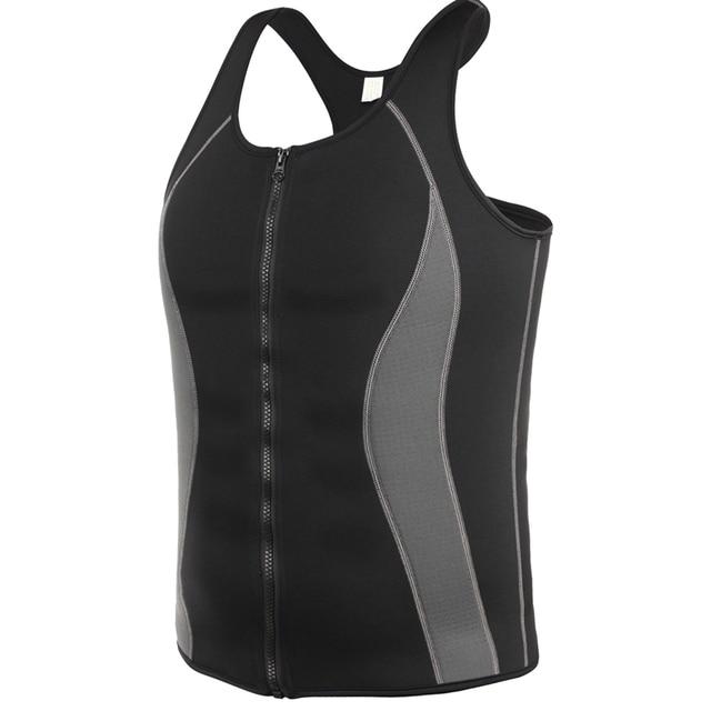 Body Shaper Men Bodysuit Waist Trainer Shapewear Slimming Belt Burning Man Sweat Slim Sweat Vest Shirt Sauna Effect  Shaper 5