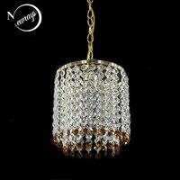 Modern Hanging Crystal Gold Color Lustre Pendant Lamp Fixtures E27 LED Pendant Lights For Kitchen Bedroom