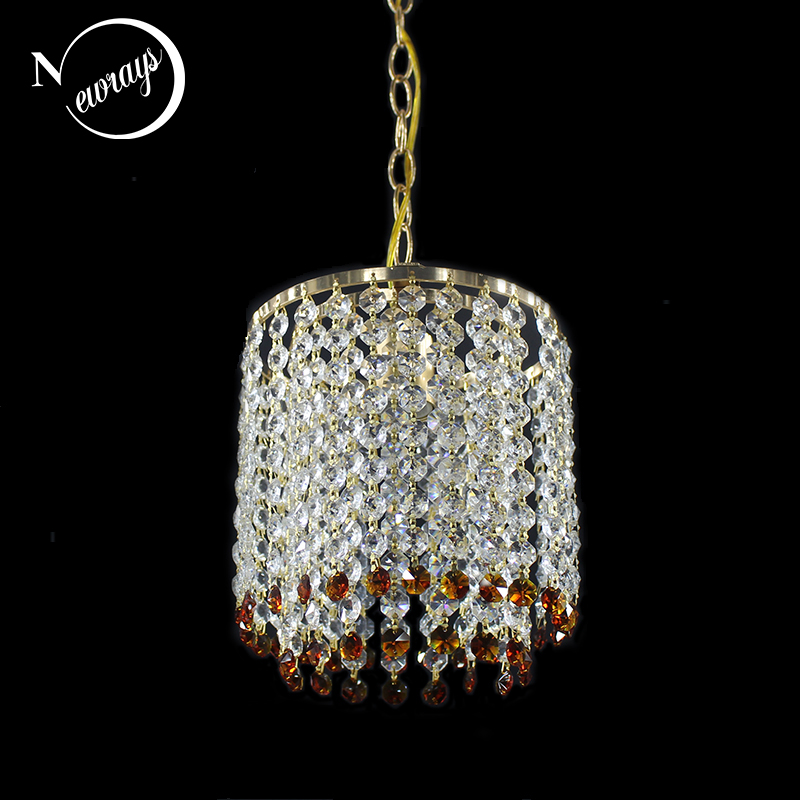 Modern hanging crystal gold color lustre Pendant Lamp Fixtures E27 LED pendant Lights for Kitchen bedroom living room restaurant modern led crystal chandelier lights living room bedroom lamps cristal lustre chandeliers lighting pendant hanging wpl222