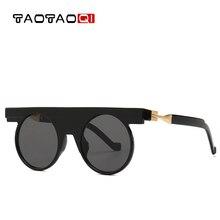 TAOTAOQI Round Punk Sunglasses Women Brand Designer Plastic High Quality Female Retro Male Vintage Eyewear Oculos