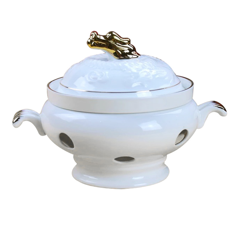 Seacucumber And Abalone Soup Cup With Lid Candle Alcohol Heated And Heat Preserved Stewing Cup Stove In Bird's Nest Stew Hotel