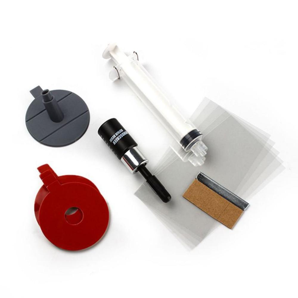 Heißer auto windschutzscheibe reparatur-werkzeuge auto windschutzscheibe fenster polieren kit chip riss stern bullseye diy set autozubehör