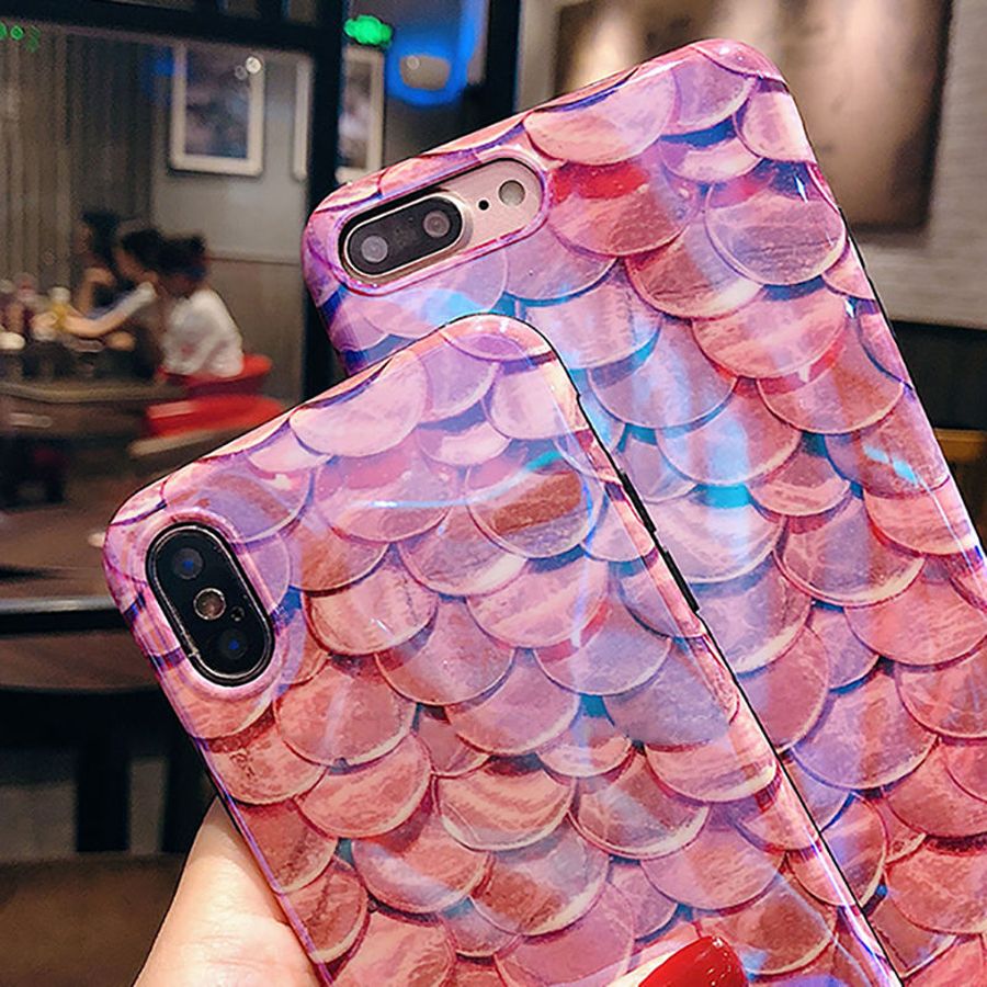 Luxury-Blu-Ray-Fish-Scales-Phone-Case-For-iPhone-6-6S-7-8-Plus-X-Fashion (2)
