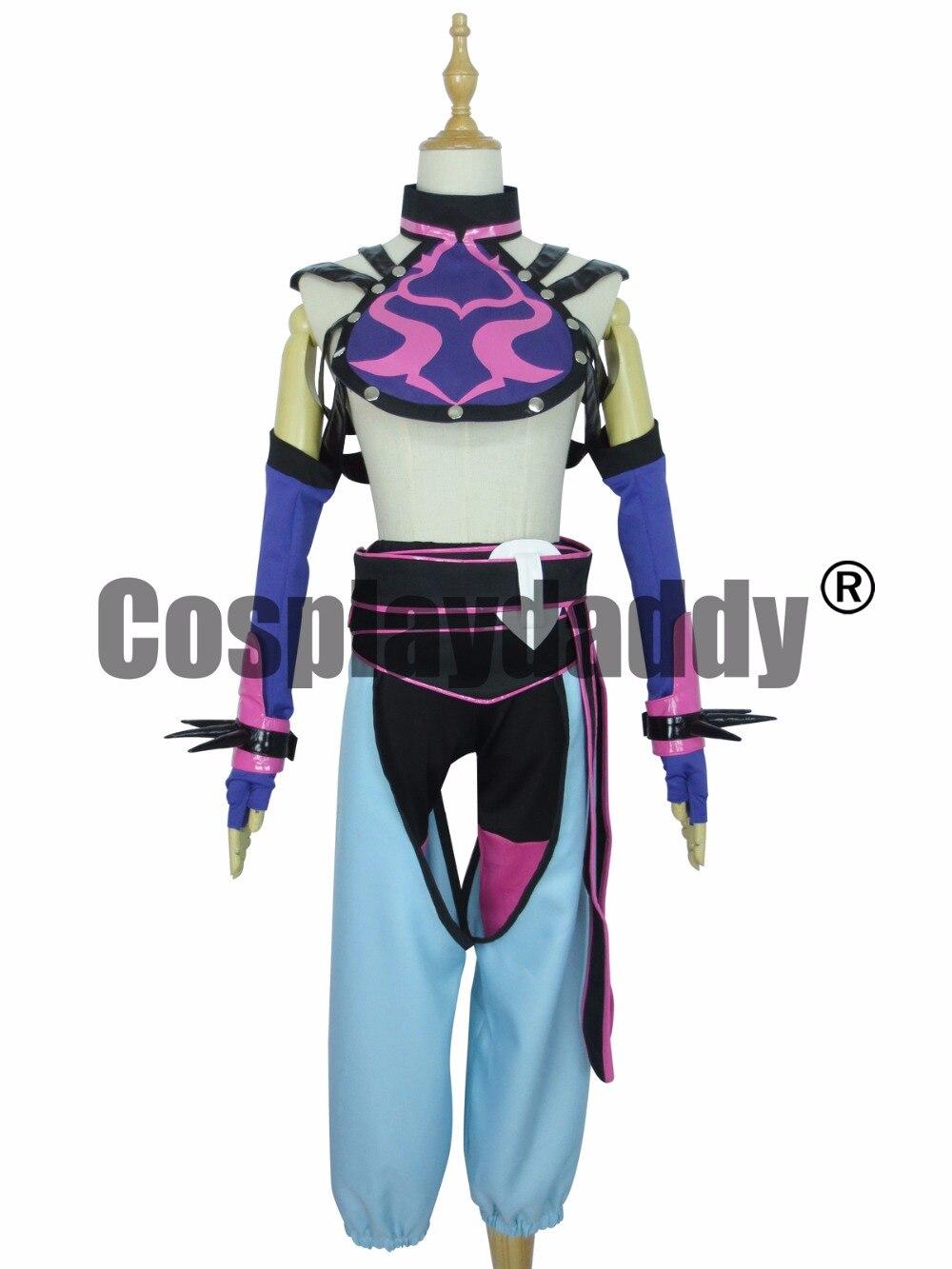 Street Fighter Juri Han Cosplay Costume Su ordine Qualsiasi formato
