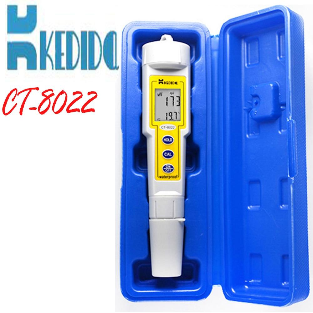 ФОТО CT-8022 Pen Type Digital ORP Meter Waterproof Handheld Redox Potential Tester  With Temperature Display Water Control Testers