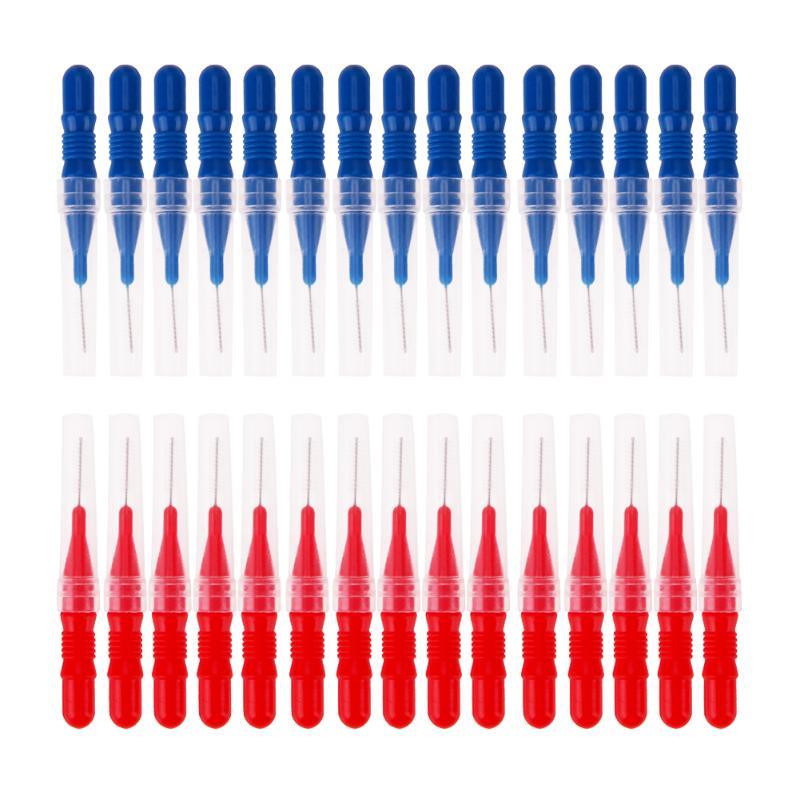 30pcs Tooth Flossing Head Hygiene Dental Plastic Interdental Brush Toothpic