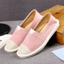 купить 2019 Fashion Sneakers Embroider Women Sewing Flax Shoes Slip on Loafers Casual Shoes Woman Espadrilles Hemp Canvas Flat Shoes дешево