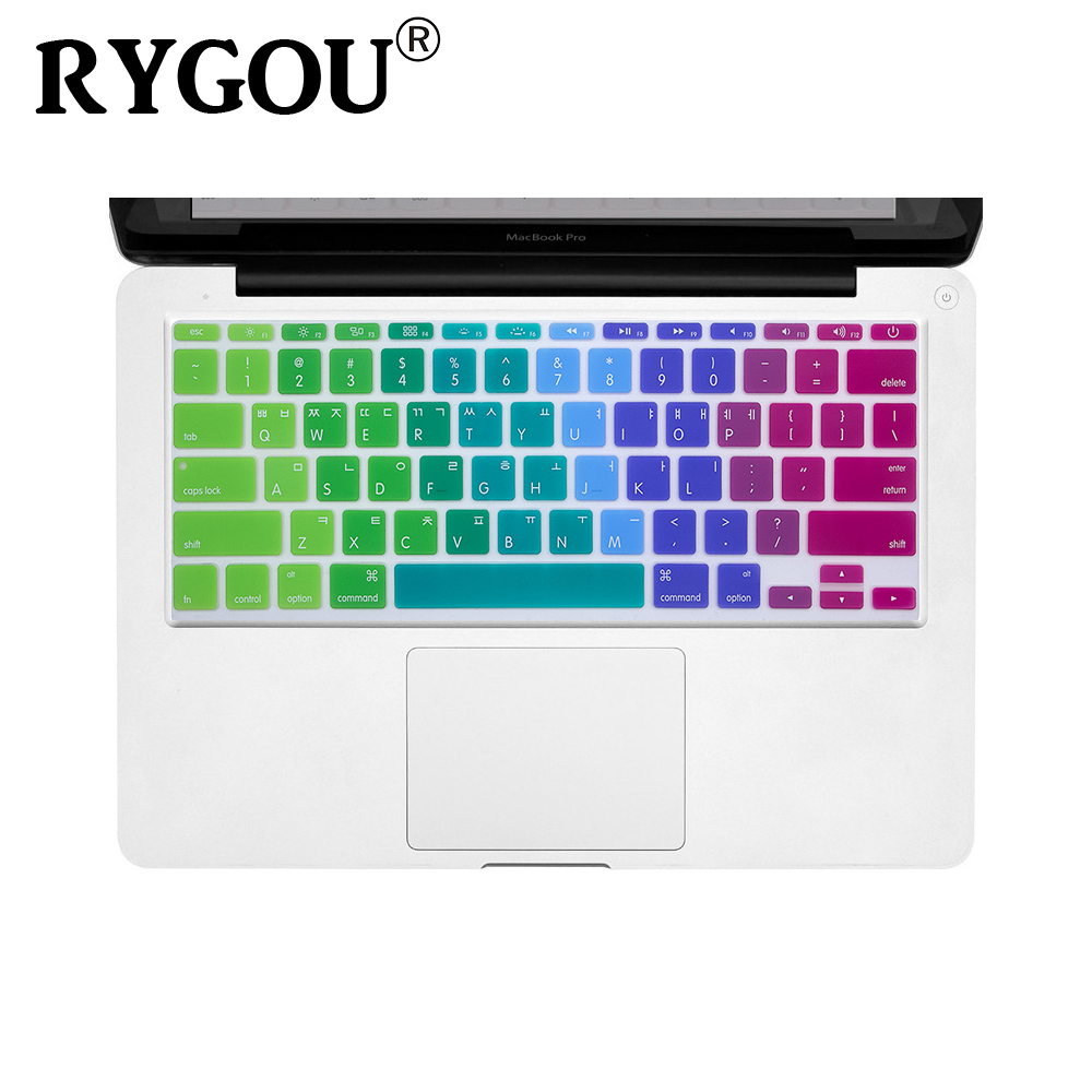 US $3 74 25% OFF|Korean & English US Layout Protective Silicone Keyboard  Cover Skin Compatible for MacBook Air 11 Inch (Models: A1370 & A1465)-in