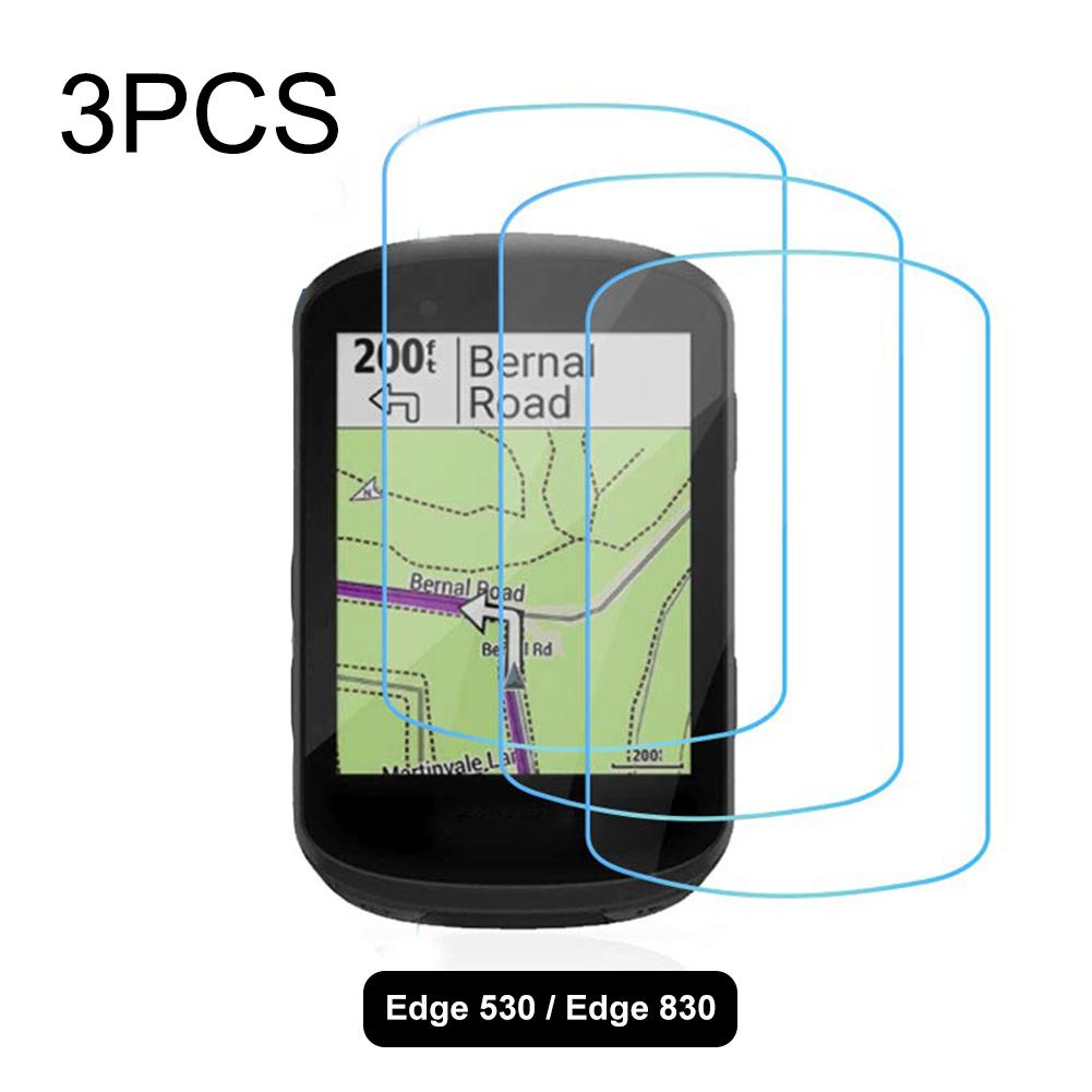 Glass Screen Protector Tempered Glass Screen Protectors for Garmin Edge 530//830 HD Transparent Extremely high Hardness 3PCS