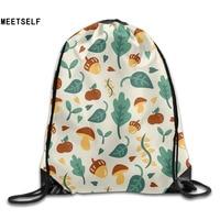 3D Print Autumn Fruit Patterns Shoulders Bag Women Fabric Backpack Girls Beam Port Drawstring Travel Shoes