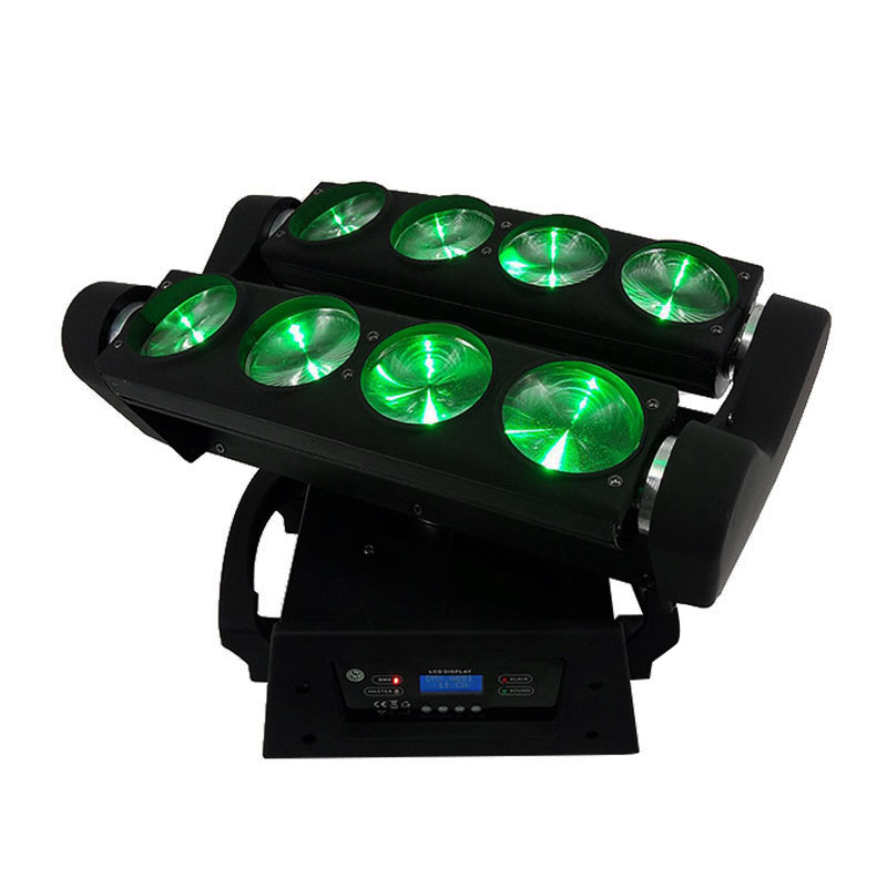LED Spider 8x10W 4in1 RGBW Light LED Moving Head Lamp DMX stage Effect for Nightclub Disco Party professional stage DJ equipment cree rgbw 4in1 dmx led moving head spider light 8 eyes beam light stage light christmas dj disco party light