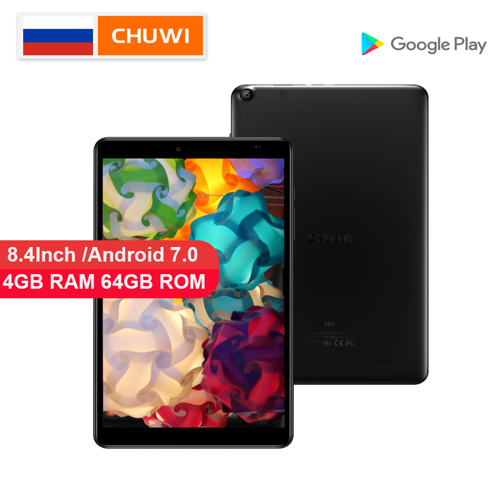 Tablette PC d'origine CHUWI Hi9 MTK 8173 Quad core jusqu'à 1.9 GHz 4 GB RAM 64 GB ROM Android 7.0 8.4 pouces 2.5 K écran 5000 mAh