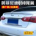 Для Nissan Infiniti Q50 спойлер 2013 + ABS пластик Неокрашенный задний спойлер на крыло  крышу багажник для губ крышка багажника для автомобиля Стайлинг