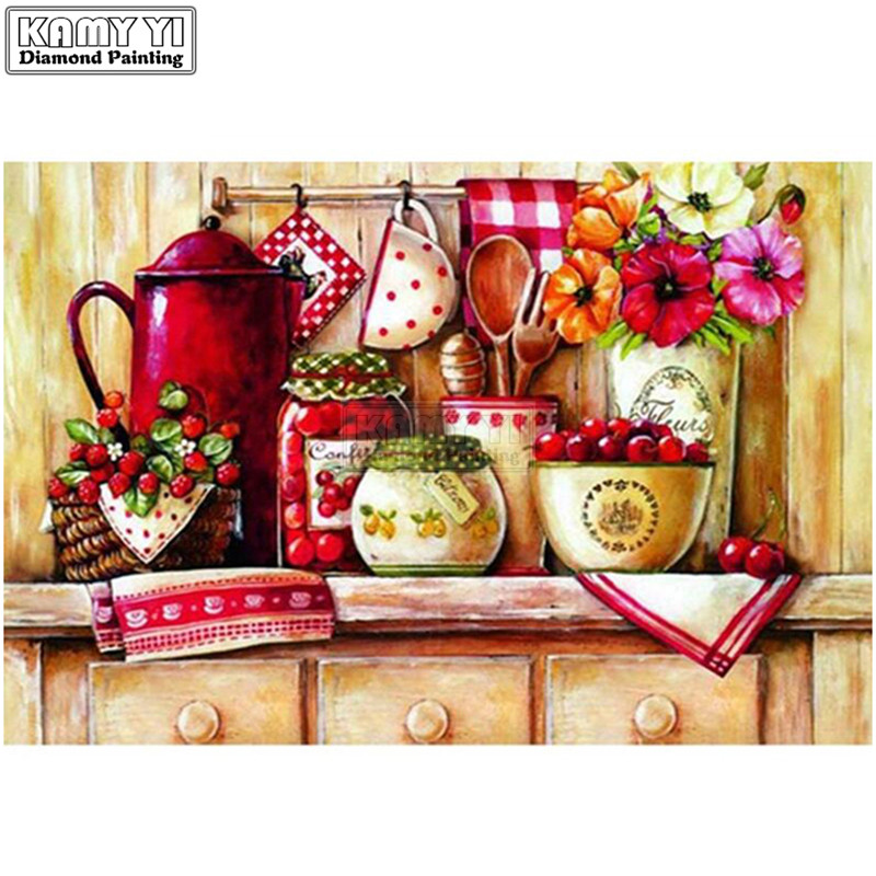 NEW Kitchen Corner with TableYHAre Cherry Diy Gift diamond Painting 5D Diamond Embroidery Mosaic Kit Needlework LK1NEW Kitchen Corner with TableYHAre Cherry Diy Gift diamond Painting 5D Diamond Embroidery Mosaic Kit Needlework LK1