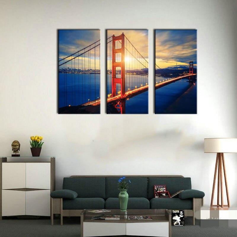 Compra cuadros famosos puentes online al por mayor de - Paneles decoracion paredes ...