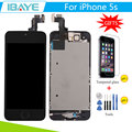 Black For iPhone 5s Screen Display for Iphone5s lcd display Touch Digitizer home button+camera +Tempered Glass +Tools