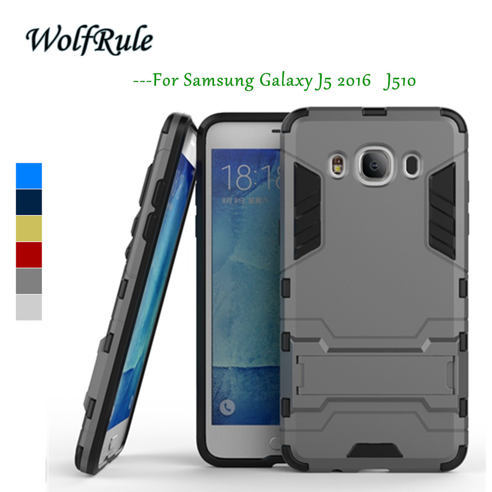 WolfRule sFor 전화 케이스 Samsung Galaxy J5 2016 Case TPU + PC Case for Samsung Galaxy J5 2016 J510 for Samsung J5 2016 5.2 ''{