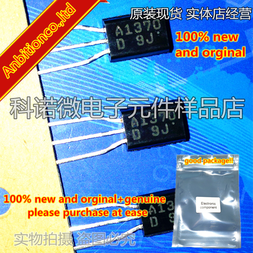 10pcs 100% New And Orginal 2SA1370 A1370 2SA1370-D/E TO-92L High-Definition CRT Display, Video Output Application In Stock