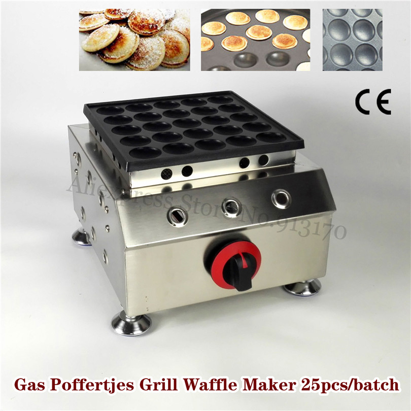 25 Holes Gas Dutch Pancakes Maker Stainless Steel Mini Pancake Puffs Poffertjes Machine for Dining Room Restaurant25 Holes Gas Dutch Pancakes Maker Stainless Steel Mini Pancake Puffs Poffertjes Machine for Dining Room Restaurant