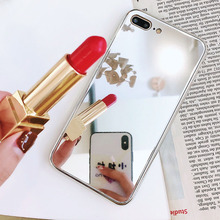Luxury Clear Cosmetic Makeup Mirror Phone Cases for iPhone XS 10 8 7 6s Plus Ant