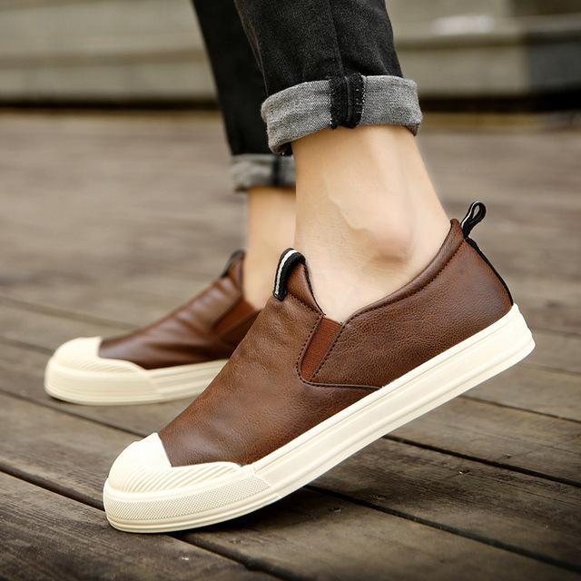 Nuevo 2016 Hombres de Otoño de Los Hombres de Los Hombres de Moda Británicos Zapatos de Cuero Calzado Casual Zapatos Zapatillas Hombre UE 39-44