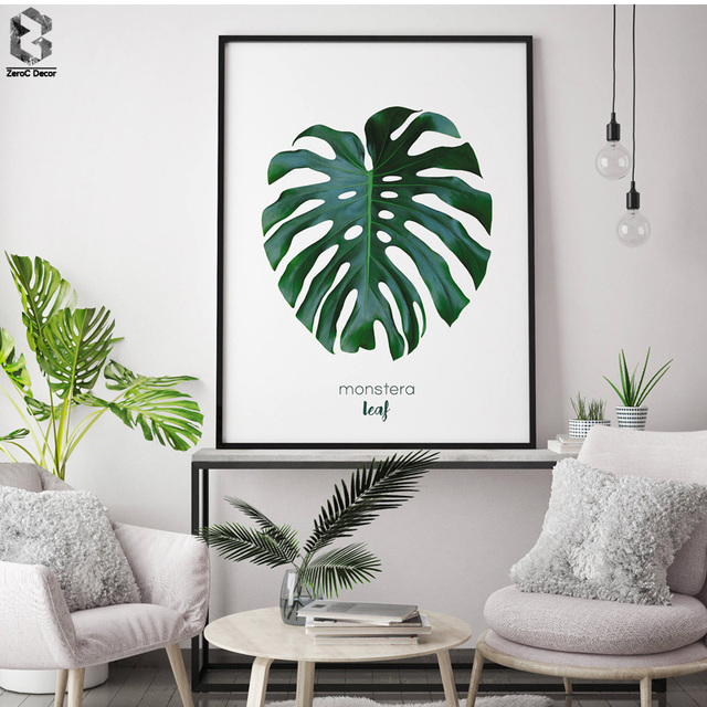 Nordic Small Fresh Home Design 4: Nordic Fresh Monstera Posters And Prints Wall Art Canvas