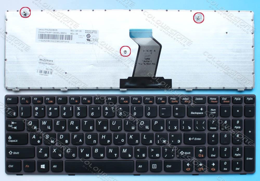 ORIGINAL Laptop keyboard for lenovo G580 Z580 V580 GARY frame russian T4B8-RU